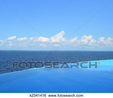 Endless swimming pool Stock Photograph | k2341416 | Fotosearch