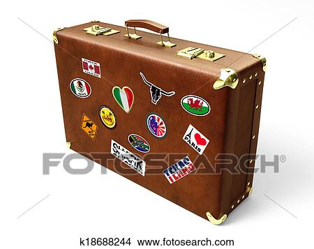 drawings of old suitcase k18688244 search clip art illustrations