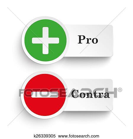 Stock Illustraties Pro Contra Ronde Iconen K26339305 Zoek