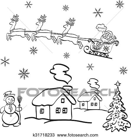 Dessin Noir Et Blanc Paysage Noel Calamuchitatravel