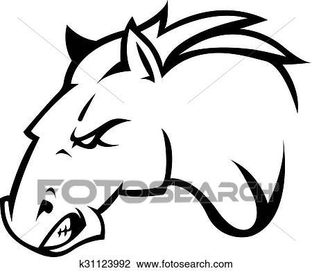 clipart cavalo ilustração desenho k31123992 busca de