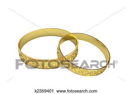 Clipart Goldene Hochzeit Ringe Mit Magie Masswerk K2359401