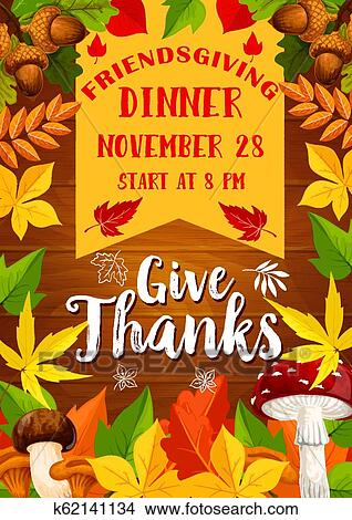 Clipart Of Holiday Potluck Dinner Poster Vector K62141134 Search