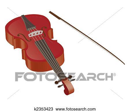 Violino Desenho K2353423 Fotosearch