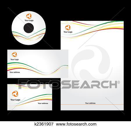 レターヘッド テンプレート デザイン イラスト K2361907 Fotosearch