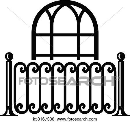 Building decor icon, simple style Clip Art