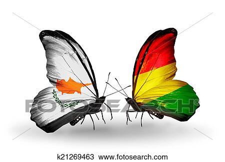 Kresba Dva Motyl S Vlajecka Dale Kridla Coz Znak O Pomer