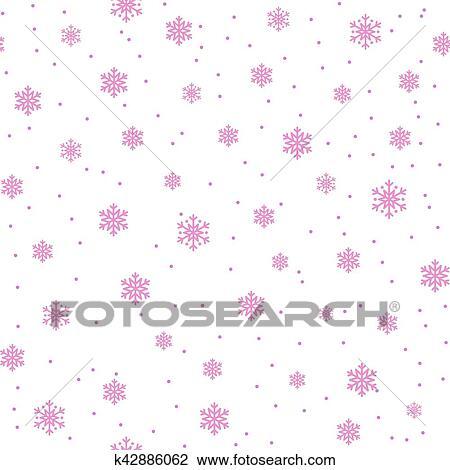 Flocons Neige Seamless Modele Dessin K42886062 Fotosearch