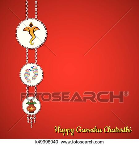 Clipart of illustration of ganesha utsav greeting card k49998040 clipart illustration of ganesha utsav greeting card fotosearch search clip art illustration m4hsunfo