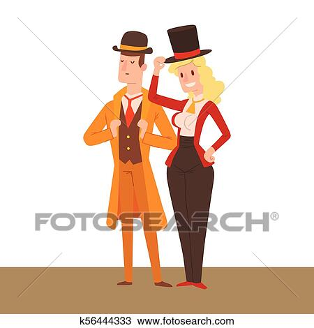 American Old West Women Collection – Clipart Cartoons By VectorToons