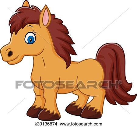 Clipart dessin anim rigolote cheval k39136874 recherchez des clip arts des illustrations - Clipart cheval ...