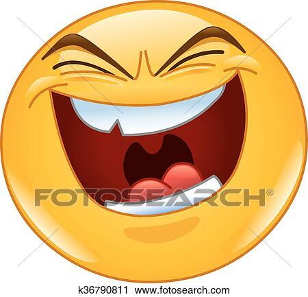 clipart of evil laugh emoticon k36790811 search clip art rh fotosearch com evil clipart gif evil clipart png
