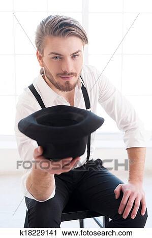Stock Fotografie In Style Hubsch Junger Mann In Hemd Und