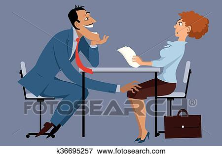 clip art of sexual harassment at work k36695257 search clipart