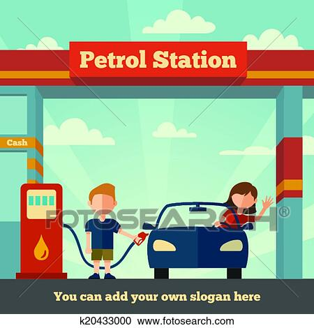 The Petrol station Clipart | k20433000 | Fotosearch