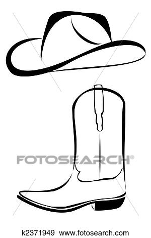 Stock Illustration - Tribal Cowboy hat and boot. Fotosearch - Search Vector  Clipart 70d92da4aae9