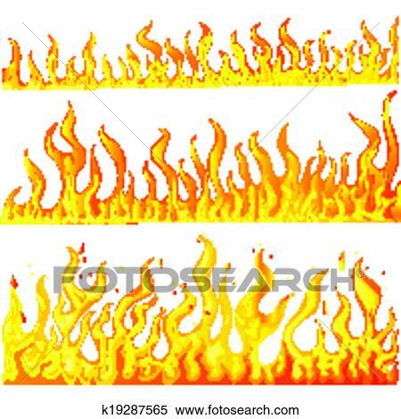 Clipart Brûler Flamme K19287565 Recherchez Des Clip Arts Des