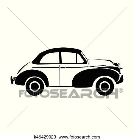 Clipart Of Classic Car Vector K Search Clip Art - Classic car search