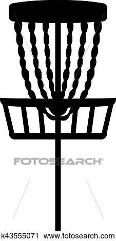 Clipart Of Disc Golf Basket K43555071 Search Clip Art
