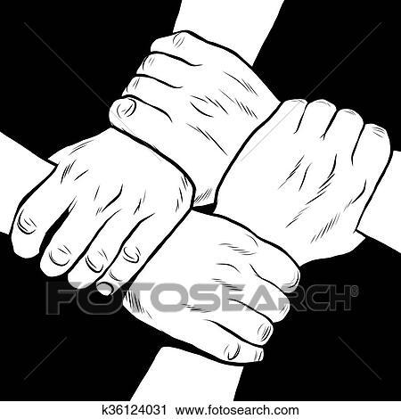 Clipart Nero Bianco Mani Solidarietà Amicizia K36124031 Cerca