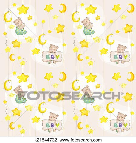 Clipart of baby bear seamless pattern for background design card baby bear seamless pattern for background design card wallpaper prints in vector voltagebd Choice Image