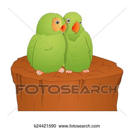 Cartone animato pappagallo uccelli clipart k fotosearch