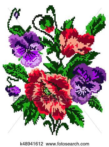 Couleur Bouquet Fleurs Dessin