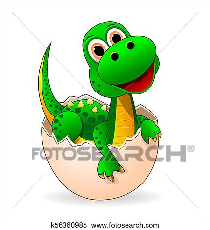 Cute Dinosaur Baby Clipart K56360985 Fotosearch
