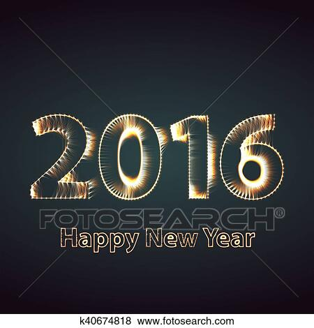 Happy New Year Flat Design 86