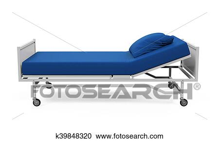 Clipart   Hospital Bed Isolated. Fotosearch