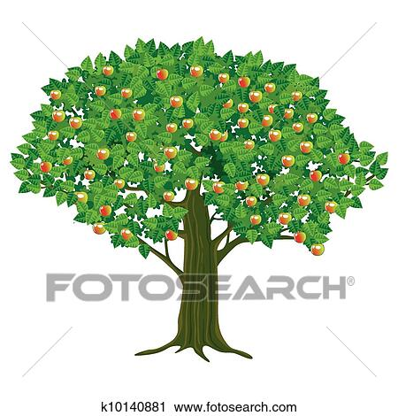 clipart of large apple tree k10140881 search clip art rh fotosearch com apple tree clip art black and white apple tree clip art free