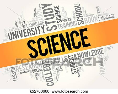 clipart of science word cloud collage k52760660 search clip art