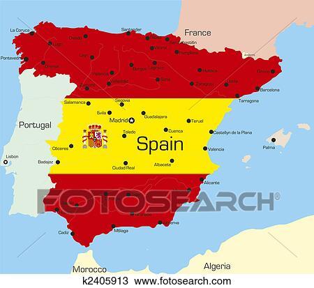 Map Of Spain Drawing.Spain Drawing