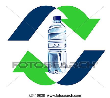 プラスチックのビン リサイクル アイコン イラスト K2416838