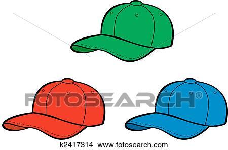 野球帽 イラスト K2417314 Fotosearch