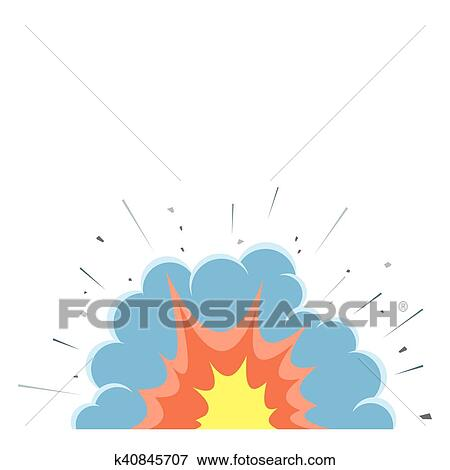 cartoon vector bomb explosion with smoke clip art k40845707 fotosearch fotosearch
