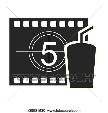 Fita Registro Contador Com Cinema Icone Clipart K39981530