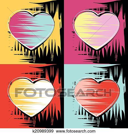 Clip Art Gemalde In Dass Stil Von Andy Warhol K20989399