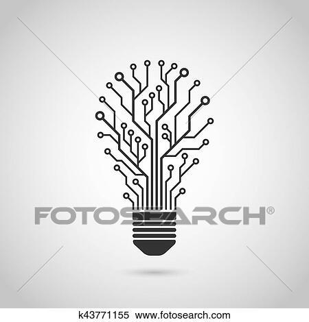 Clipart - glühbirne, symbol k43771155 - Suche Clip Art, Illustration ...