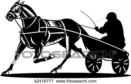 Stock Illustration Of Harness Racing K2416777