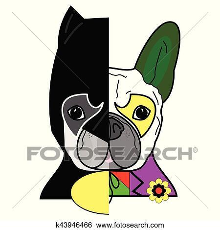 Vector Cartoon Character Boston Terrier Dog White Speech Bubble Design —  Stock Vector © Jaaak #210902498