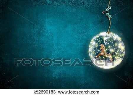 Sagoma Cavallo A Dondolo Disegno.Natale Cartoline Auguri Cavallo A Dondolo Disegno K52690183