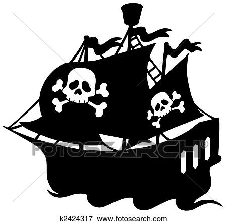 海賊 船 シルエット イラスト K2424317 Fotosearch
