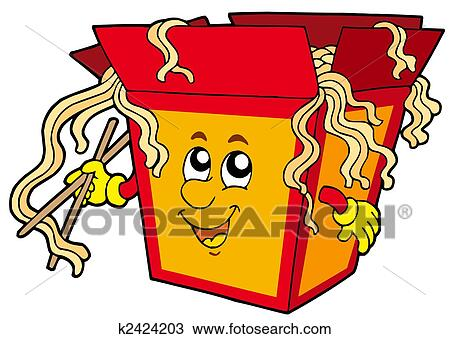 drawing of cartoon chinese food k2424203 search clipart rh fotosearch com chinese food clipart black and white eating chinese food clipart