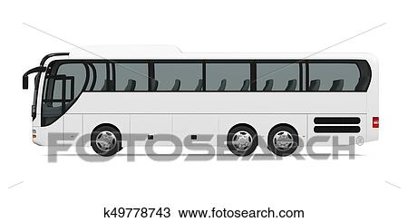 Drawing Of Coach Bus Isolated K49778743 Search Clipart