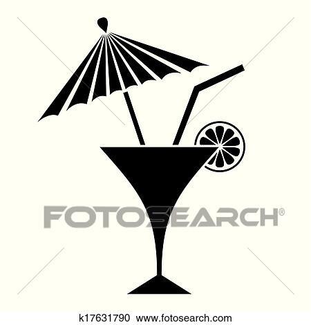 clipart cocktail k17631790 suche clip art illustration wandbilder zeichnungen und vector. Black Bedroom Furniture Sets. Home Design Ideas