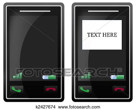 dessins vide t l phone portable cran tactile k2427674. Black Bedroom Furniture Sets. Home Design Ideas