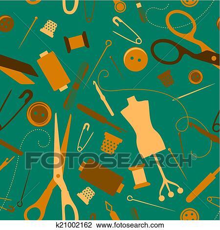 Clipart - nähen, und, handarbeit, seamless, muster k21002162 - Suche ...
