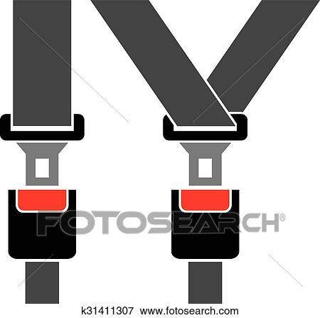 Safety auto seat belt Clip Art | k31411307 | Fotosearch