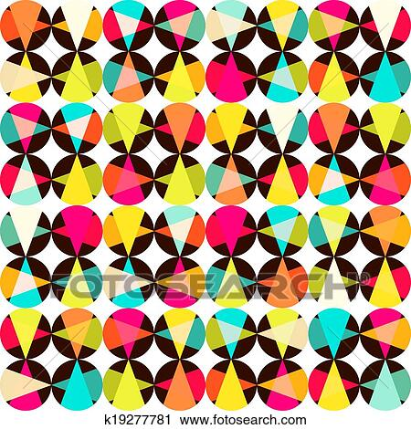 clipart of vector geometric pattern of circles and triangles